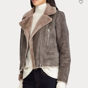 Ralph Lauren women's shearling aviator jacket